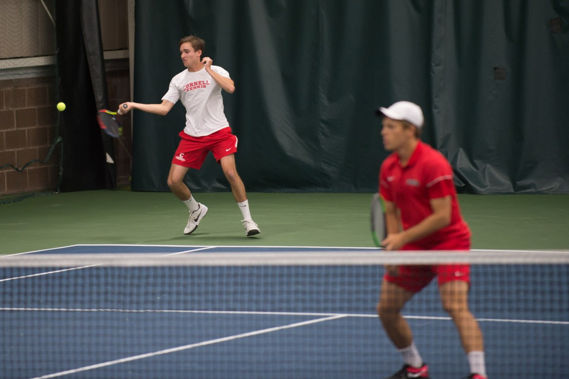 Cornell men's tennis was able to pull off an upset win over Harvard this past weekend.
