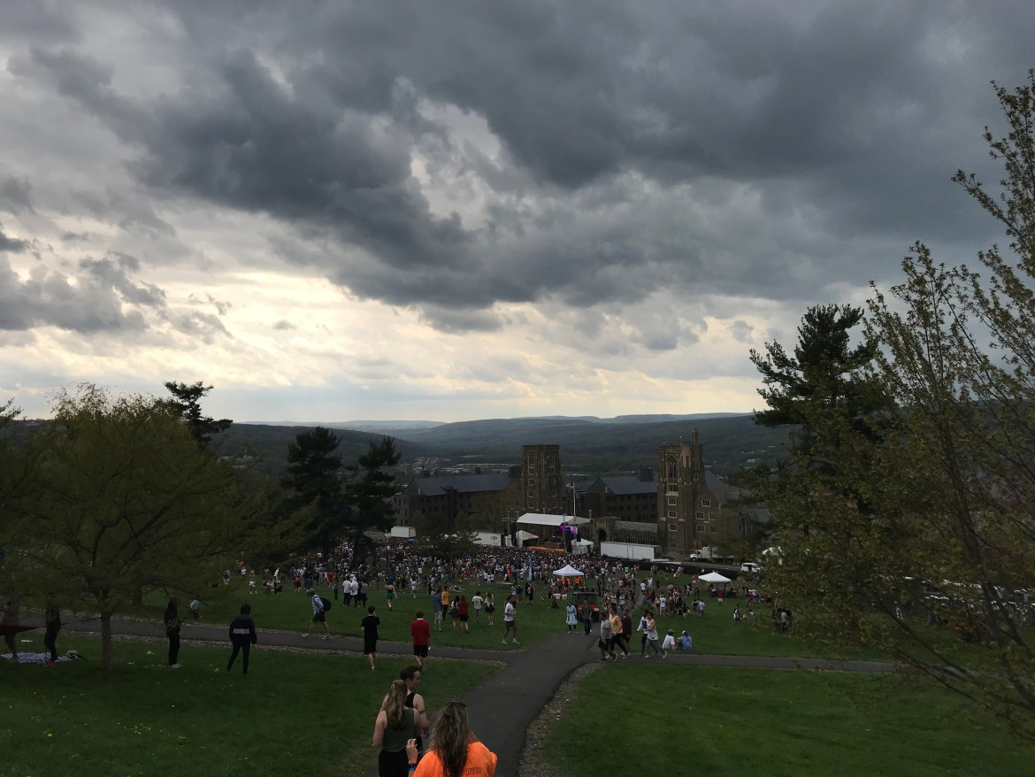 Thousands of students evacuated the slope after Cornell issued an emergency alert on Slope Day.