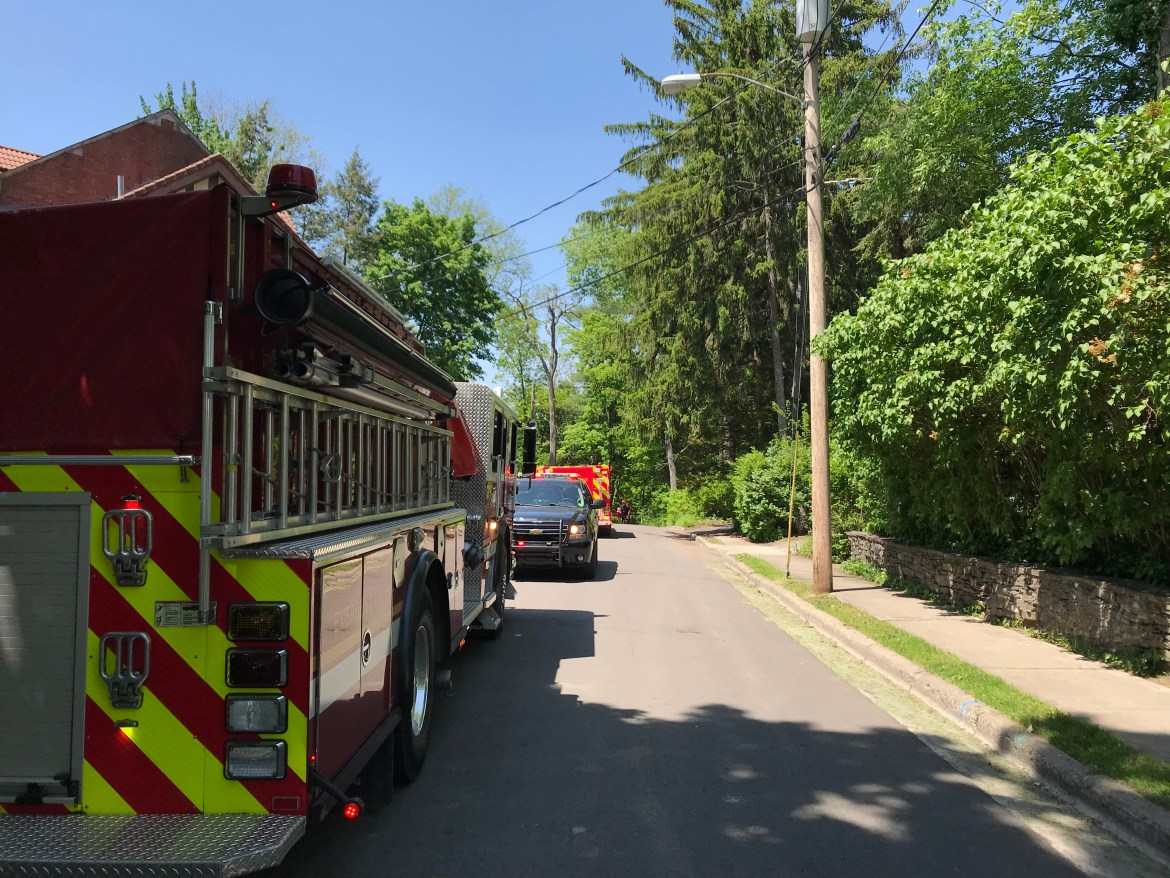 The Ithaca Fire Department joins the search of the Fall Creek gorge following reports of a body in the water.