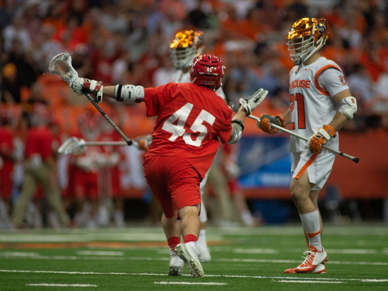 Junior Clarke Petterson scored half of Cornell's 10 goals to boost his team to a playoff win.