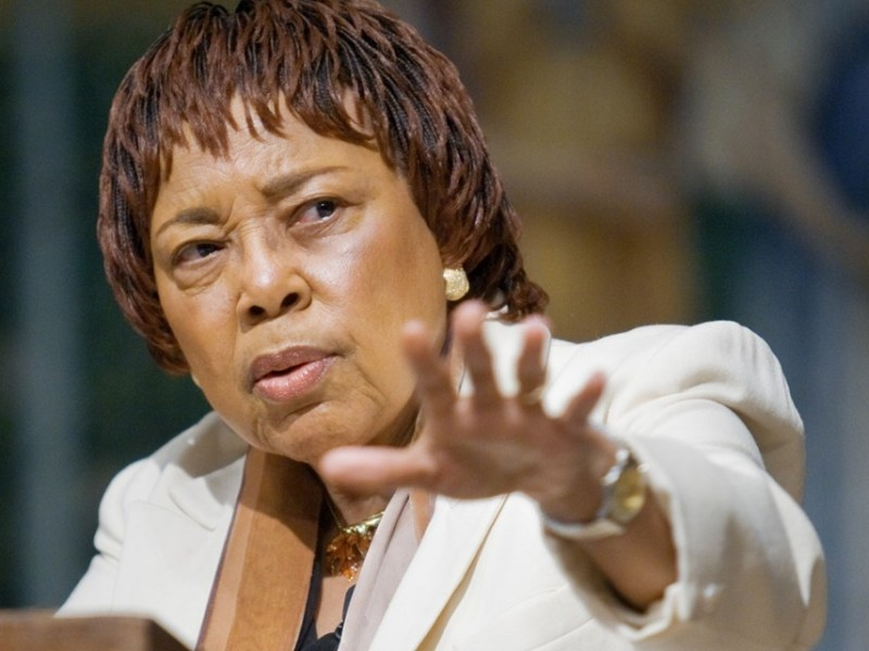 Dorothy Cotton, who died earlier this month, speaks about the civil rights movement in the annual Dr. Martin Luther King Jr. Commemorative Lecture in Sage Chapel in 2007.