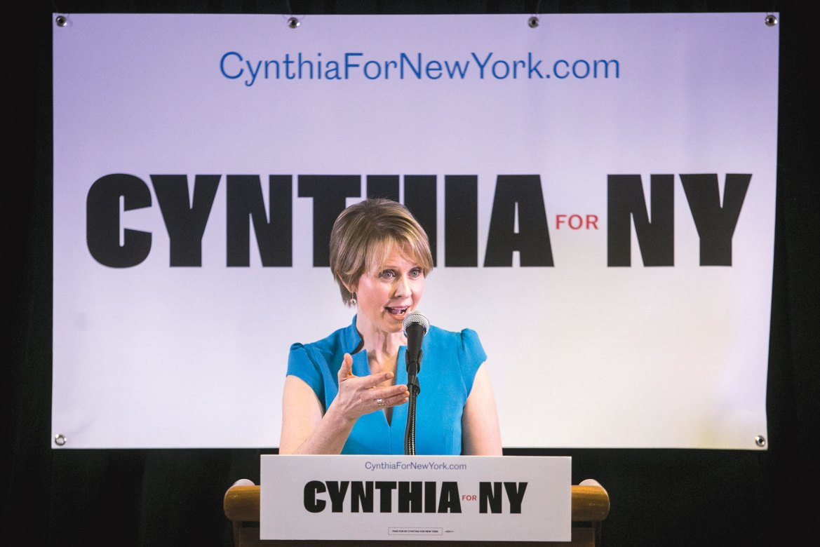 """Cynthia Nixon, Democratic candidate for New York State governor, will visit Ithaca on Sept. 1 to make an """"environmental announcement."""""""