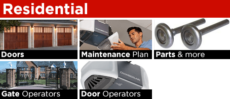 Residential Services garage doors gates and operators installation service