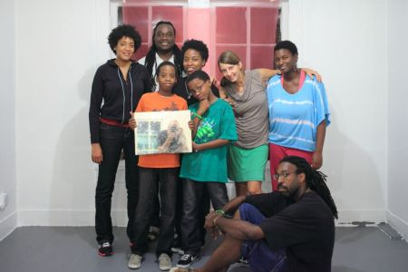Artists Regina Agu, Lisa E. Harris, journey, Michael Khalil Taylor, Rebecca Novak, and Ifeanyi Okoro