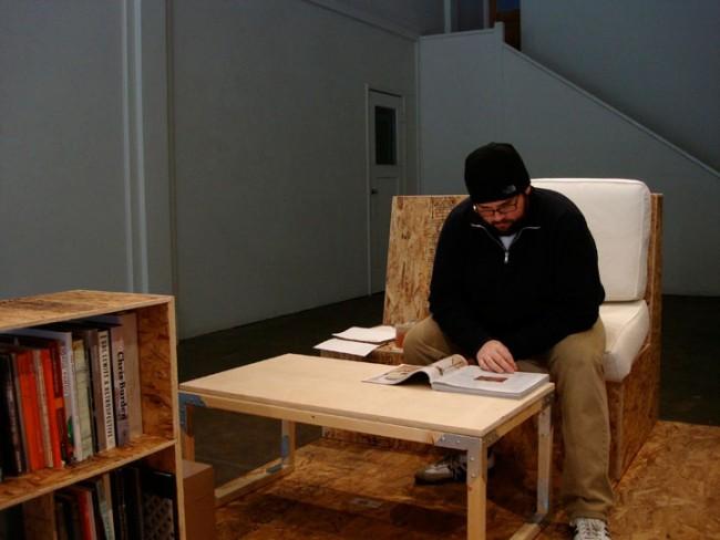 "Quinn Gomez-Heitzeberg, ""I Have Legitimate Concerns"" installation and performance."