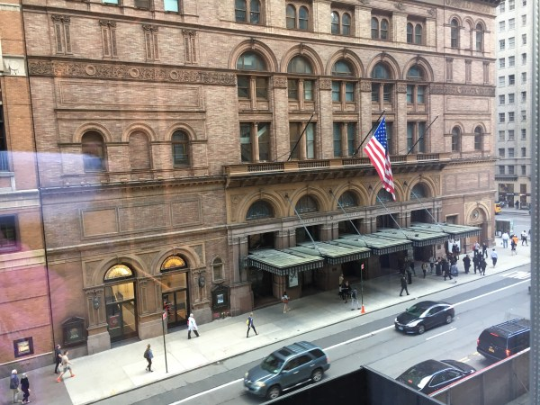 Carnegie Hall from the Park Hyatt