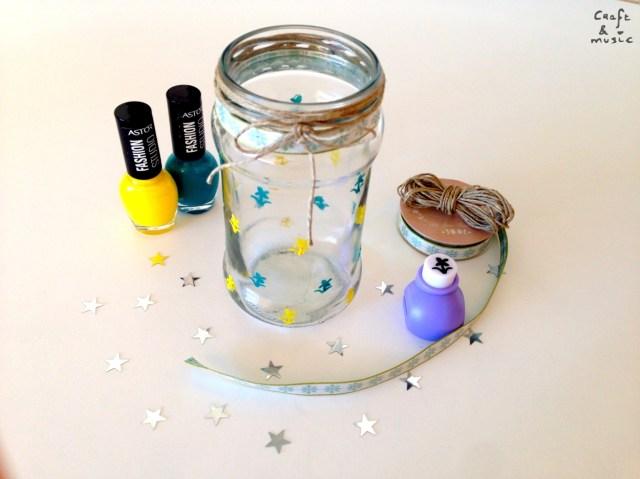 tarros de cristal decoración DIY resultado 2