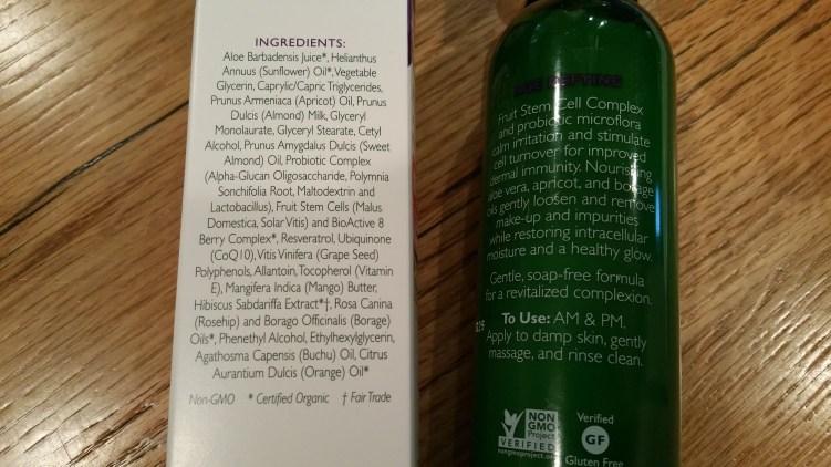 Ingredients in Andalou Naturals Apricot Probiotic Cleansing Milk