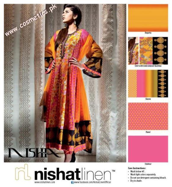 Nishat Linen Summer Collection For Women 2012. (1)