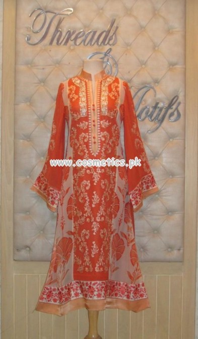 Threads And Motifs Latest Party Wear Outfits 2012 008
