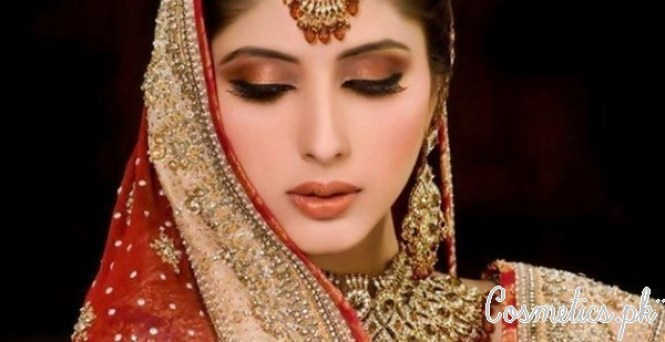 Latest Pakistani Bridal Eye Makeup 2015 - Brown and Red