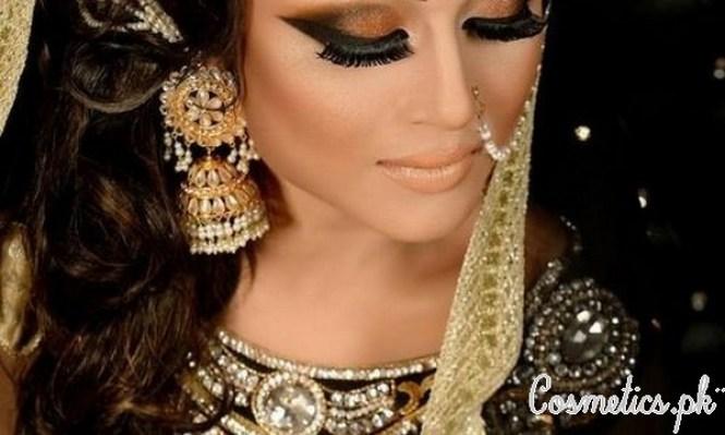 Latest Pakistani Bridal Eye Makeup 2015 - Brown and Smokey