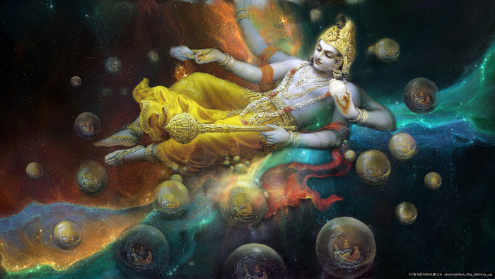 Lord Vishnu is one of three aspects of the Hindu Trinity who is responsible for maintaining the Universe.