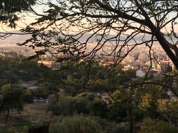 Beautiful Athens at sunset