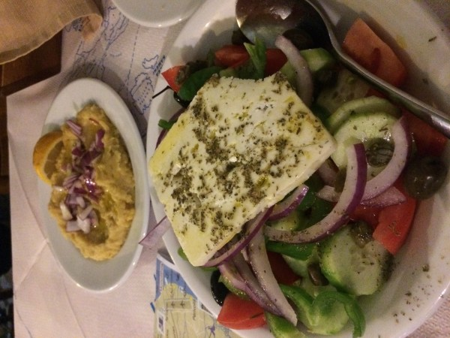 Greek salad, as it should be