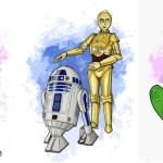 En prinsessa med en groda till El, Star Wars C3PO och R2D2 till Z och en groda (så klart) till Es.