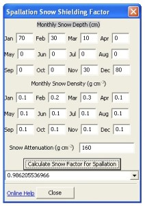 Monthy Snow Cover Correction Factor Utility