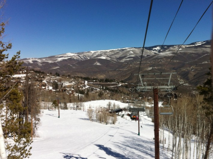 Looking back at Bachelor Gulch