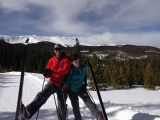 Stefan and Morgan headed to Hallelujah Hut in Breckenridge