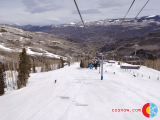 Looking down Centennial Express  at Beaver Creek