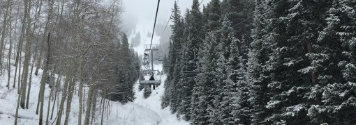 Under the Birds of Prey lift at Beaver Creek