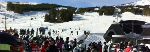 Line at bottom of Peak 8 at Breckenridge Mountain