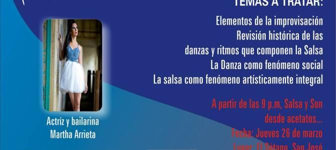 Jueves 26: Noche de Salsa y Conversatorio en el Sótano