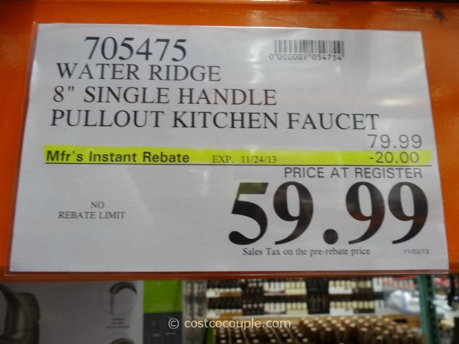 water ridge pull out kitchen faucet costco kitchen faucet Water Ridge Single Handle Kitchen Faucet Costco