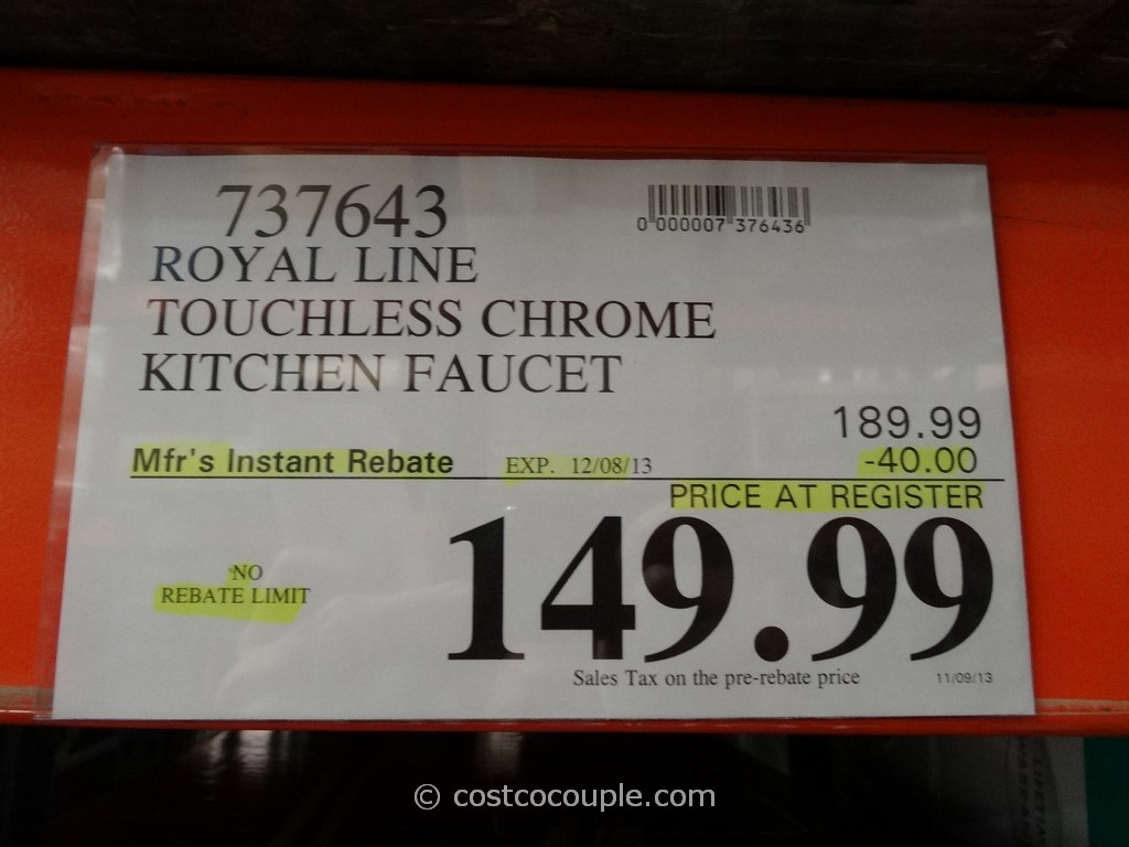 royal line touchless chrome kitchen faucet costco kitchen faucet Royal Line Touchless Chrome Kitchen Faucet Costco 1