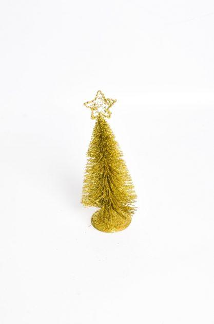 Arbol Alambre Mediano Dorado 25 cm