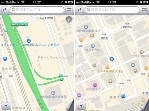 iOS 6.1.3 日本地図改善