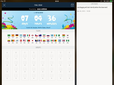 FIFA Official App - World Cup Final Draw
