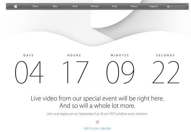 Apple Event 2014/09/09 カウントダウン