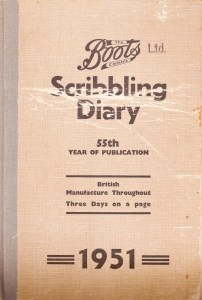 Boots Scribbling Diary from 1951