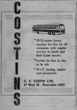 Costin's Coaches of West Street, Dunstable