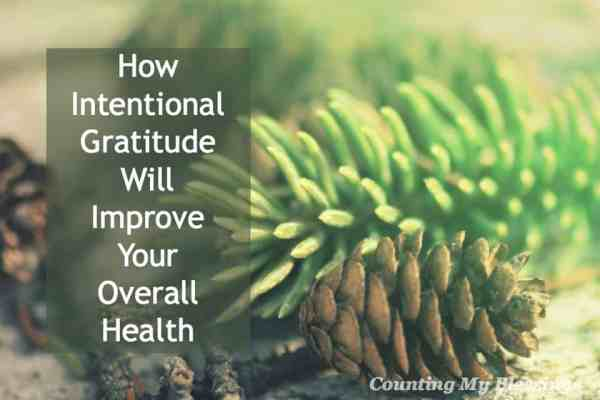 Research has proven that gratitude improves physical, mental, emotional and spiritual health. Yes! It's good for you!