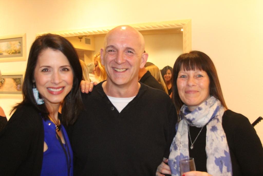 Jo Thompson en compagnie des chorégraphes Alan Birchall (Human-Dancer) et Jacki Jaz