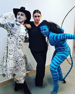 Laura Bartolomei (Medley Avatar) et Guillaume Richard (Chat du Cheshire), bravo à la costumière !