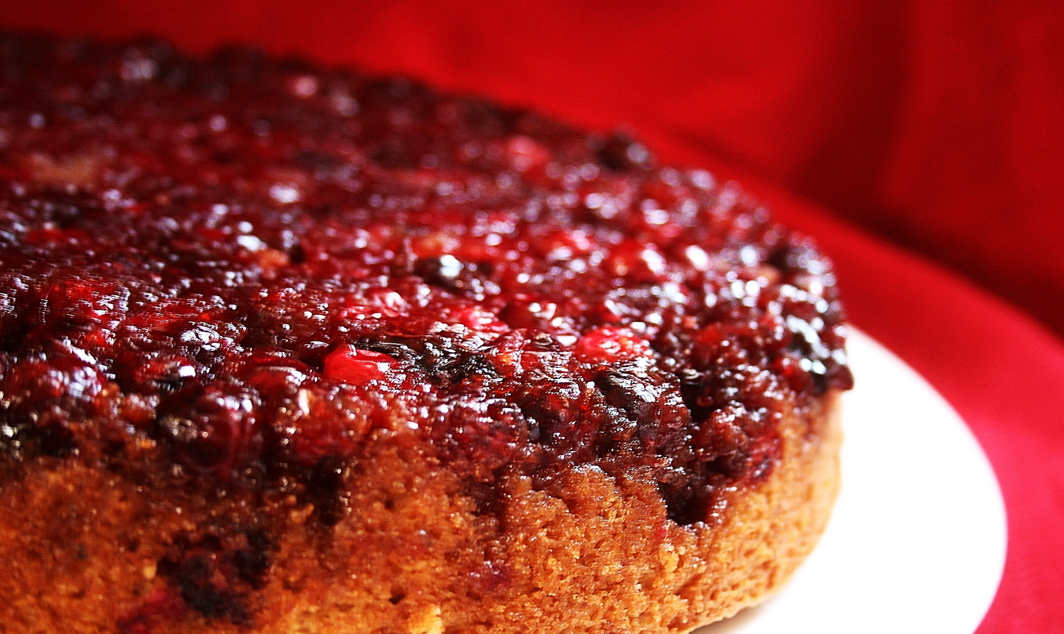 Cranberry Upside Down Cake - Country Girl Gourmet
