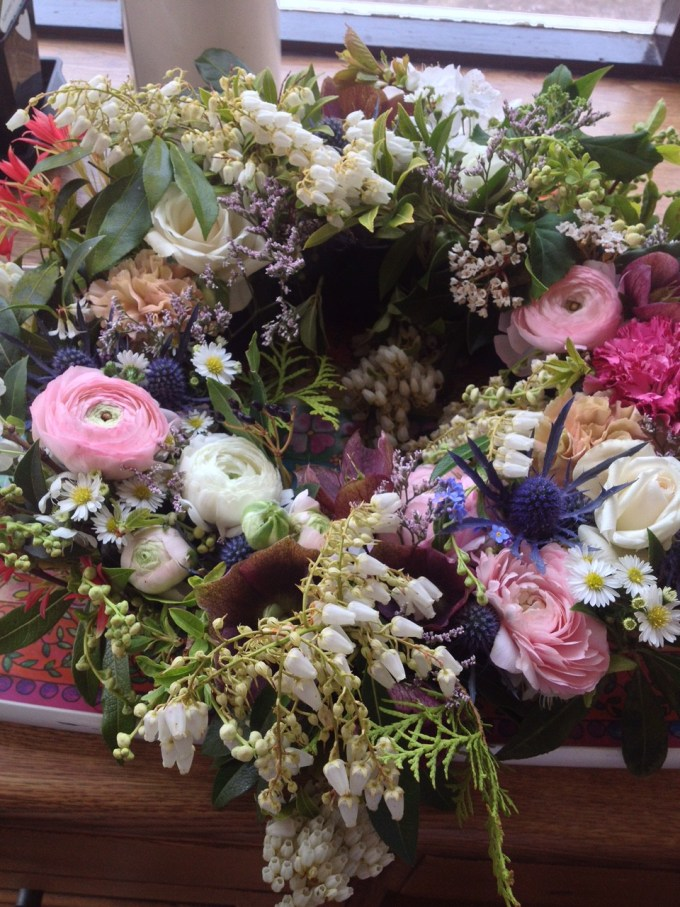 A floral garland for a country wedding