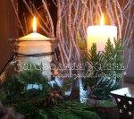 Свечи на Новый год. Композиция со свечами