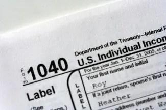 tax form 1040