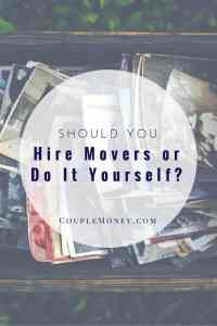 Making a big move soon? See if hiring movers or doing it yourselves is the way to go!