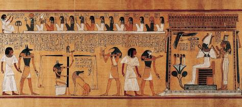 Last Judgement of Hunefer, 1275 b.c.e., papyrus, Thebes, Egypt (British Museum)