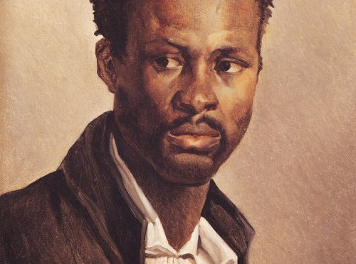 There is no picture of Onesimus. Artist , Jean-Louis André Théodore Géricault, Portrait of a Black Man, France (c. 1823), Oil on Canvas
