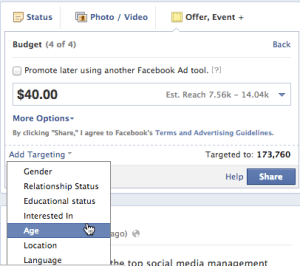 facebook offer targeting