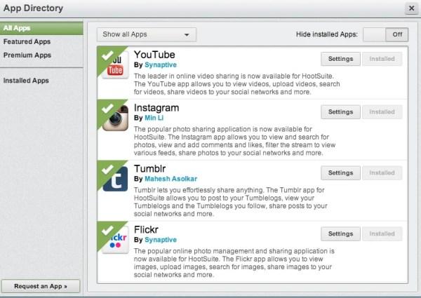 hootsuite apps