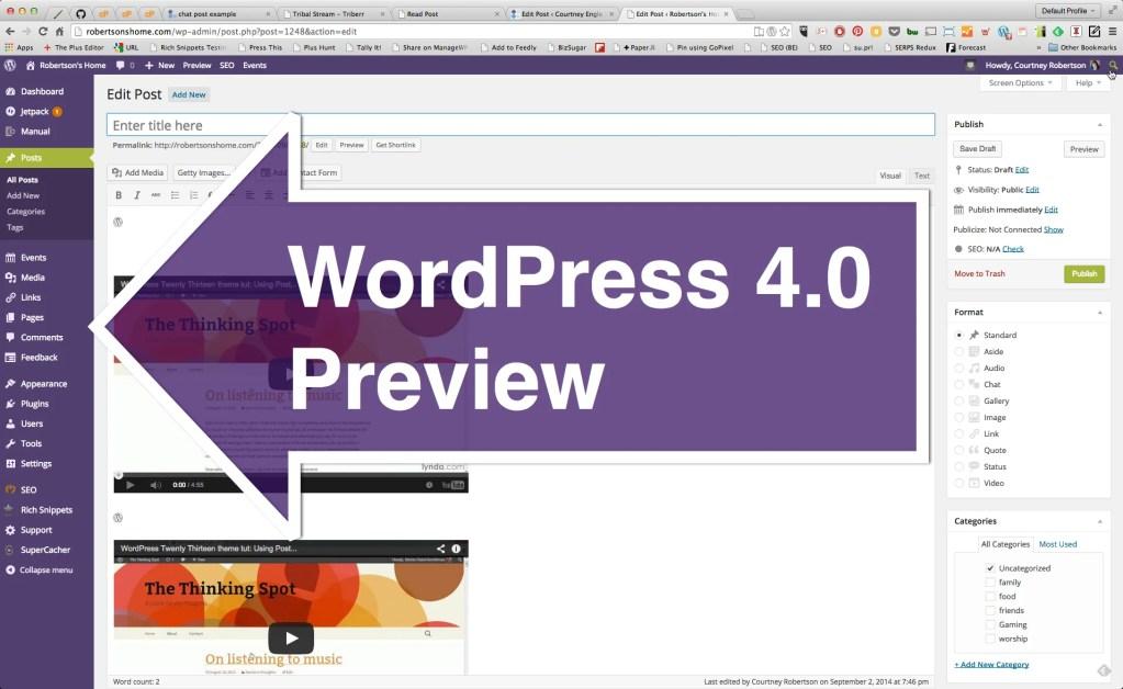 #WordPress 4.0 Preview