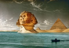 The_great_sphinx._Watercolour