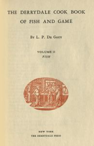 Cookbook of Fish and Game